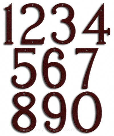 Medium Burgundy House Numbers by Majestic 8 Inch Product Image