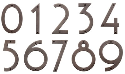 Large Bronze Noble 6 Inch Majestic House Numbers Product Image
