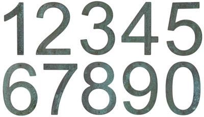 8 Inch Patina Copper Address Numbers Product Image