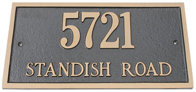 Majestic Solid Brass Rectangle Address Plaques Product Image