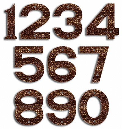 Majestic Small Copper Vein House Numbers