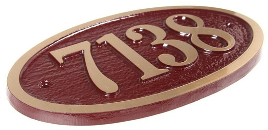 Majestic Small Oval Plaque Side View