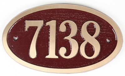 Majestic Solid Brass Small Oval Address Plaques Product Image