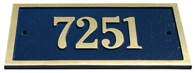 Majestic Solid Brass St Hubert Address Plaques Product Image