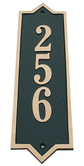 Majestic Solid Brass Vertical Address Plaques Product Image