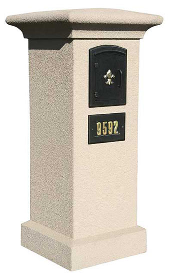 Stucco Column and Manchester Mailbox Product Image