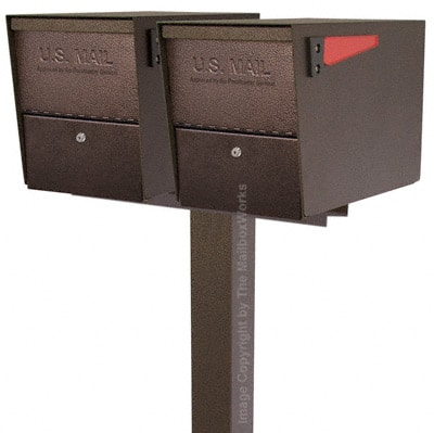 Mail Boss Package Master Dual Mailboxes with Post Product Image