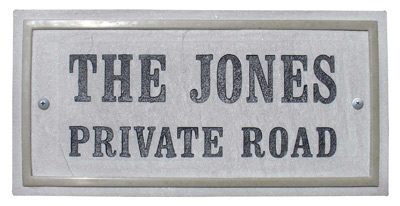 QualArc Chesterfield Rectangle Crushed Stone Address Plaque Product Image