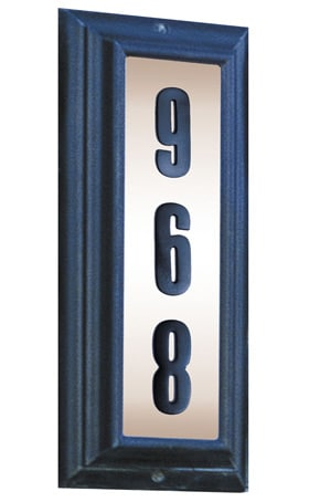 QualArc Edgewood Vertical Lighted Address Plaque Product Image