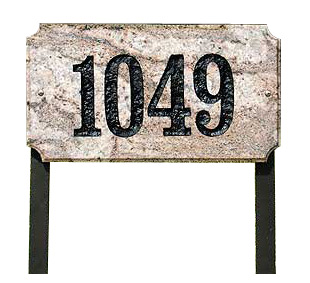 QualArc Executive Rectangle Granite Lawn Marker Address Plaque Product Image