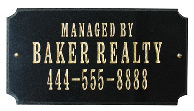 QualArc Executive Rectangle Granite Address Plaque Product Image