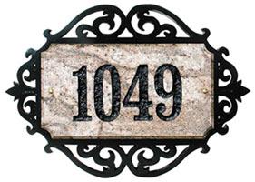 Qualarc Granite Address Plaque Scroll Frame