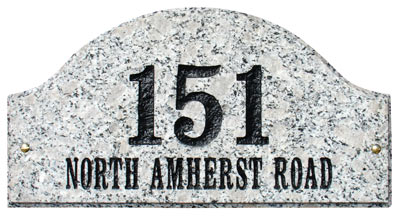 QualArc Ridgecrest Arch Address Plaque Product Image