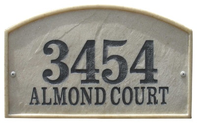 QualArc Riviera Arch Address Plaque Product Image