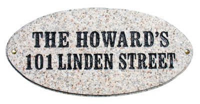 QualArc Rockport Oval Granite Address Plaque Product Image