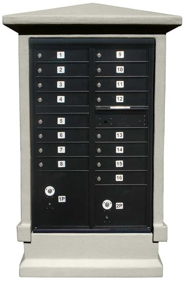 16 Door CBU Mailboxes Column in Decorative Stucco Product Image