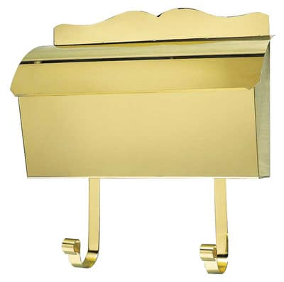 QualArc Provincial Wall Mount Roll Top Brass Mailbox Product Image