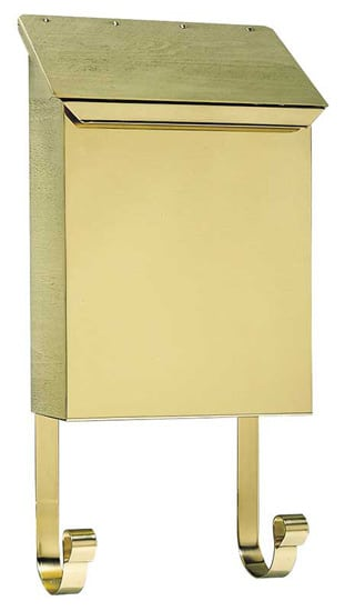 QualArc Provincial Vertical Wall Mount Brass Mailbox Product Image