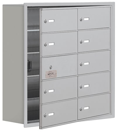 Salsbury 10 Door Cell Phone Lockers with B Doors Recessed Mount – Front Master Access – 8 Inch Depth Product Image