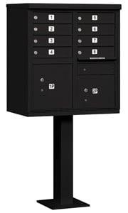 Salsbury 8 Door CBU Mailbox Black