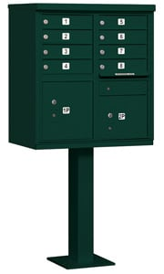 Salsbury 8 Door CBU Mailbox Green