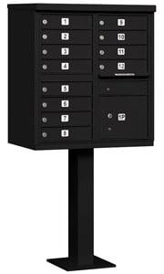 Salsbury 12 Door CBU Mailbox Black