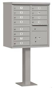Salsbury 12 Door CBU Mailbox Gray