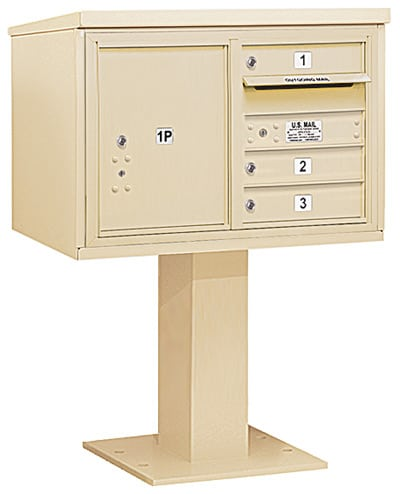 3405D-03 Salsbury 4C Pedestal Mailboxes Product Image