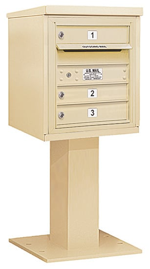 3405S-03 Salsbury 4C Pedestal Mailboxes Product Image