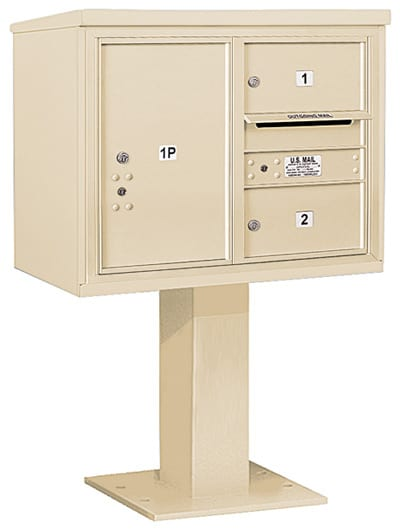 3406D-02 Salsbury 4C Pedestal Mailboxes Product Image