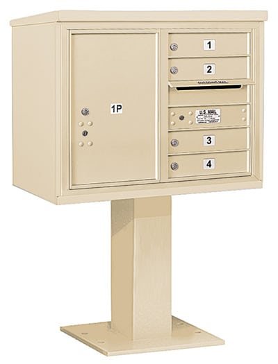 3406D-04 Salsbury 4C Pedestal Mailboxes Product Image