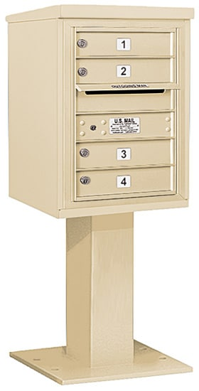 3406S-04 Salsbury 4C Pedestal Mailboxes Product Image