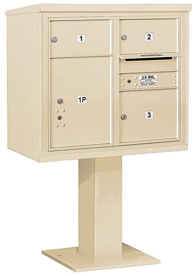 3407D-03 Salsbury 4C Pedestal Mailboxes Product Image