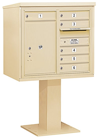 3407D-06 Salsbury 4C Pedestal Mailboxes Product Image