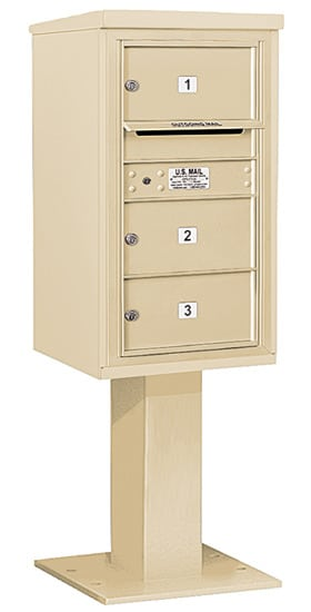 3408S03 Salsbury Commercial 4C Pedestal Mailboxes