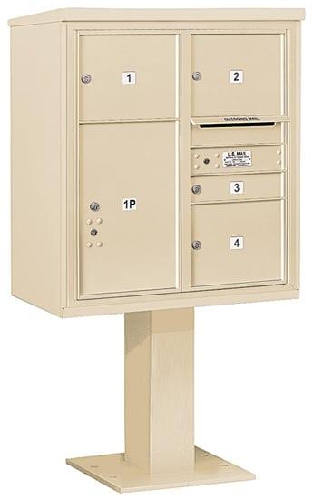 3409D04 Salsbury Commercial 4C Pedestal Mailboxes