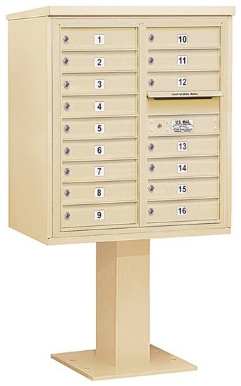 3409D16 Salsbury Commercial 4C Pedestal Mailboxes