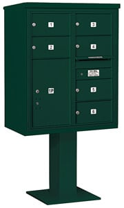 Salsbury 4C Pedestal 3410D-06 Green