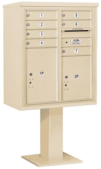 3410D06 Salsbury Commercial 4C Pedestal Mailboxes