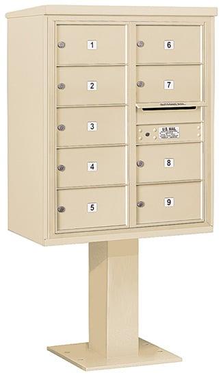 3410D09 Salsbury Commercial 4C Pedestal Mailboxes