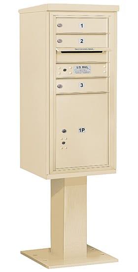 3410S03 Salsbury Commercial 4C Pedestal Mailboxes