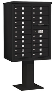 Salsbury 4C Pedestal 3411D-20 Black