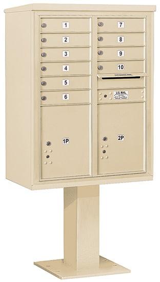 3411D10 Salsbury Commercial 4C Pedestal Mailboxes