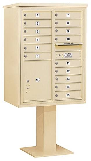 3411D15 Salsbury Commercial 4C Pedestal Mailboxes