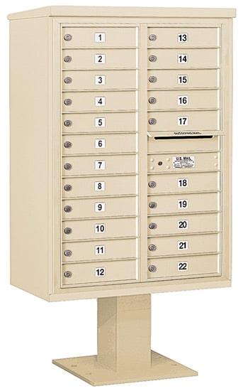 3412D22 Salsbury Commercial 4C Pedestal Mailboxes