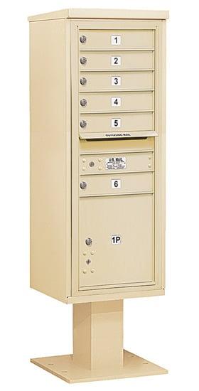 3413S06 Salsbury Commercial 4C Pedestal Mailboxes