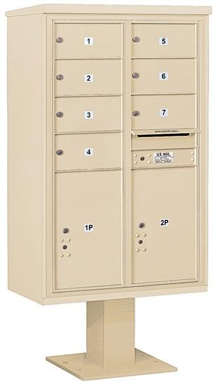 3414D07 Salsbury Commercial 4C Pedestal Mailboxes