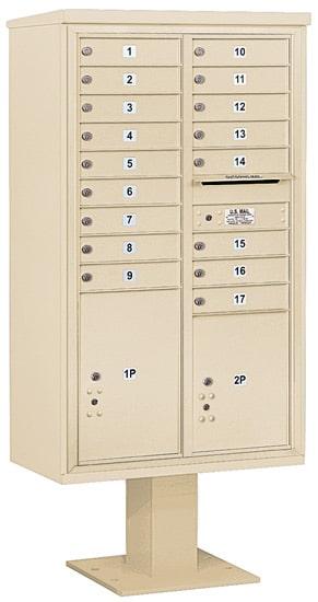 3415D17 Salsbury Commercial 4C Pedestal Mailboxes
