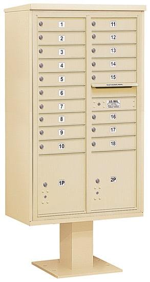 3415D18 Salsbury Commercial 4C Pedestal Mailboxes