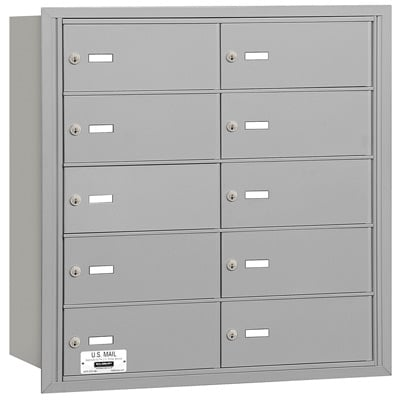 10 Door Rear Loading 3610 Salsbury 4B+ Horizontal Mailboxes Product Image